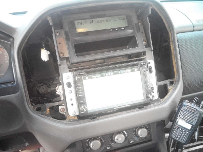 Installing A 2din System In A Shogun  Pajero Nm  U2013 Step By